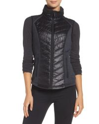 Zella | Black Zelfusion Water Repellent Vest | Lyst