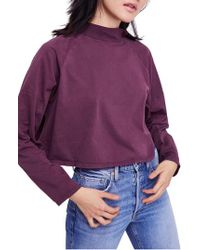 Free People Purple We The Free By Jackson Top