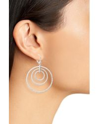 Nina - Metallic Orbital Drop Earrings - Lyst