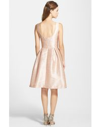 Alfred Sung Pink Dupioni Fit & Flare Dress