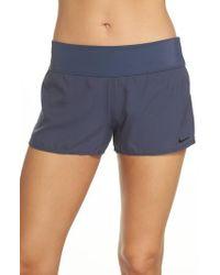 Nike - Blue Swim Board Shorts - Lyst