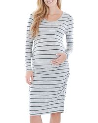 Everly Grey | Gray 'hanh' Maternity T-shirt Dress | Lyst