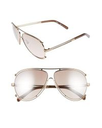Chloé | Multicolor 'isidora' 61mm Aviator Sunglasses | Lyst