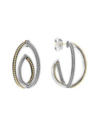 Lagos - Metallic 'infinity' Crisscross Hoop Earring - Lyst