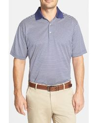 Peter Millar - Blue 'Classic Stripe' Egyptian Cotton Lisle Polo for Men - Lyst