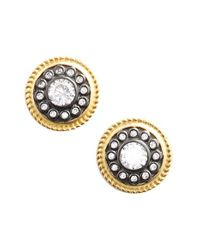 Freida Rothman | Metallic 'nautical Button' Stud Earrings | Lyst