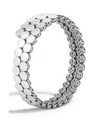John Hardy - Metallic 'dot' Double Coil Bracelet - Lyst