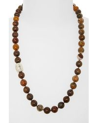Simon Sebbag | Brown Beaded Necklace | Lyst