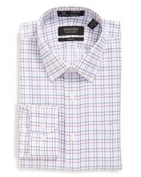 Nordstrom - White Smartcare Trim Fit Check Dress Shirt for Men - Lyst
