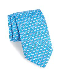 Ferragamo | Blue Gancino Tie for Men | Lyst