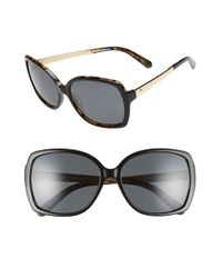 kate spade new york - Black 'darilynn' 58mm Polarized Sunglasses - Lyst