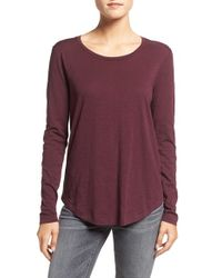 Madewell - White Whisper Cotton Long Sleeve Crewneck Tee - Lyst