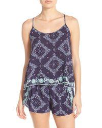 Make + Model - Blue 'summer Daze' Print Pajamas - Lyst