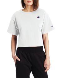 Champion White Heritage Crop T-shirt
