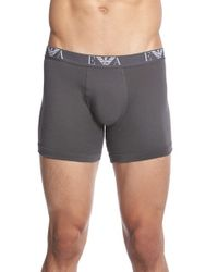 Emporio Armani   Gray 3-pack Cotton Boxer Briefs, Grey for Men   Lyst