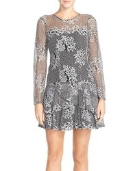 Kut From The Kloth | Gray Lace Drop Waist Dress | Lyst