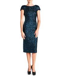Dress the Population | Blue Marcella Sequin-Embellished Dress  | Lyst
