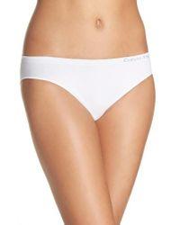Calvin Klein | White 'pure' Seamless Bikini | Lyst
