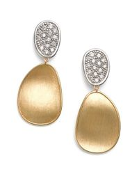 Marco Bicego | Metallic Lunaria Diamond Drop Earrings | Lyst