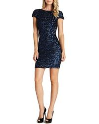 Dress the Population | Blue Tabitha Sequin Minidress | Lyst