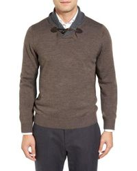 Tocco Toscano | Gray Shawl Collar Pullover Sweater for Men | Lyst