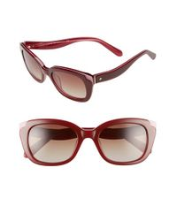 kate spade new york | Red 'danella' 50mm Sunglasses | Lyst
