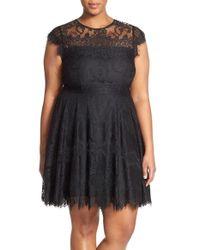 BB Dakota | Black 'rhianna' Lace Fit & Flare Dress | Lyst