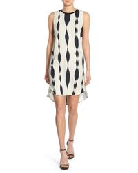Trouvé White Banded High/low Shift Dress