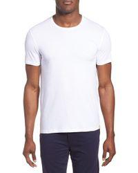 Paul Smith - White Crewneck Cotton T-shirt for Men - Lyst