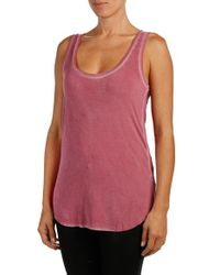 PAIGE - Multicolor Denim 'jessa' Stretch Jersey Tank - Lyst