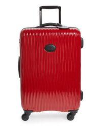 Longchamp Gray 'medium Fairval' Four-wheel Hard Shell Suitcase