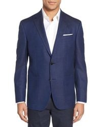 Ted Baker - Blue Trim Fit Wool & Cotton Blazer for Men - Lyst