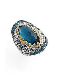 Konstantino | Multicolor 'thalassa' Blue Topaz Ring | Lyst