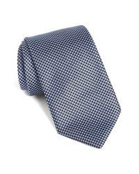 BOSS | Blue Geometric Silk Tie for Men | Lyst