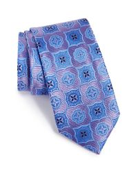 Nordstrom - Blue Nordstrom 'elegant' Medallion Silk Tie for Men - Lyst