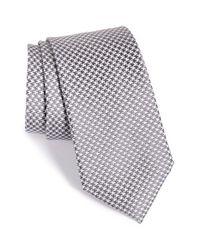 Nordstrom - Gray Nordstrom 'ravishing Neat' Houndstooth Silk Tie for Men - Lyst