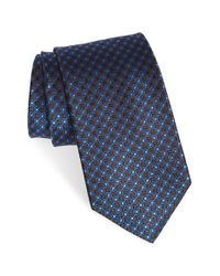 Nordstrom - Blue Nordstrom 'grand Neat' Dot Grid Silk Tie for Men - Lyst