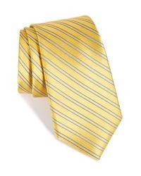Nordstrom - Yellow Nordstrom 'uptown Stripe' Silk Tie for Men - Lyst