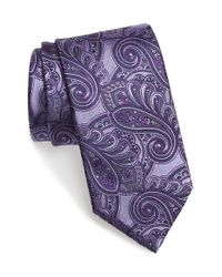 Ermenegildo Zegna | Multicolor Paisley Silk Tie for Men | Lyst