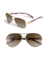 Tory Burch | Metallic 57mm Aviator Sunglasses | Lyst