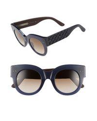 Bottega Veneta   Blue 48mm Sunglasses   Lyst