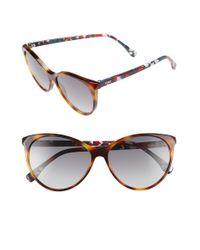 Fendi - Gray 57mm Cat Eye Sunglasses - Dark Havana/ Multi - Lyst