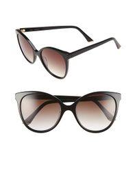 Sunday Somewhere | Black 'lily' 55mm Retro Sunglasses | Lyst