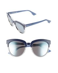 Dior - Blue ' Sight' 54mm Bicolor Cat Eye Sunglasses - Lyst