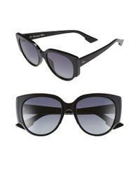 Dior | Black 'night' 55mm Cat Eye Sunglasses | Lyst