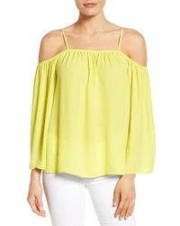 Vince Camuto | Yellow Off The Shoulder Blouse | Lyst