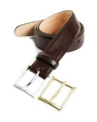 Martin Dingman Purple 'smith' Leather Belt for men