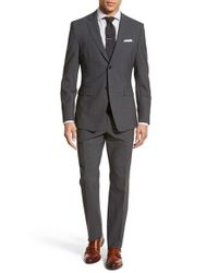 Jack Spade - Gray Trim Fit Solid Stretch Wool Suit for Men - Lyst