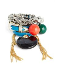 Toga - Red Mixed Bangles (set Of 4) - Lyst