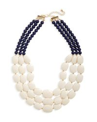 Natasha Couture - Blue Multistrand Statement Necklace - Lyst